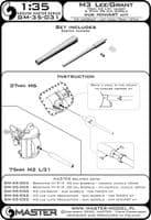 Master 1/35 M3 Lee/Grant - 75mm M2 L/31 (Short) & 37mm M6 Gun Barrels # GM35-031